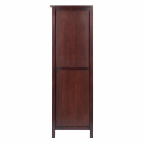 Brooke Jelly Cupboard, 4-Section Cabinet, Walnut Perspective: top