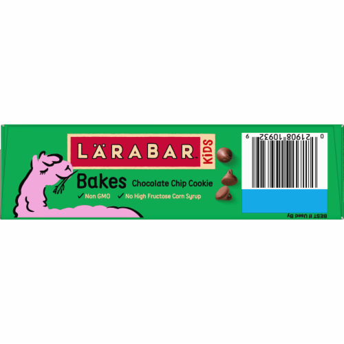 Larabar Kid Chocolate Chip Cookie Bars Perspective: top