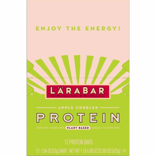 Larabar Apple Cobbler Plant Based Protein Bars Perspective: top