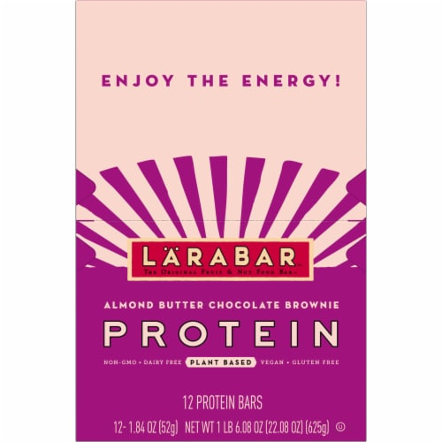 Larabar Almond Butter Chocolate Brownie Protein Bars 12 Count Perspective: top