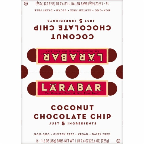 Larabar Coconut Chocolate Chip Bars Perspective: top
