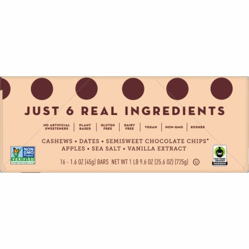 Larabar Chocolate Chip Cookie Dough Gluten-Free Snack Bars Perspective: top