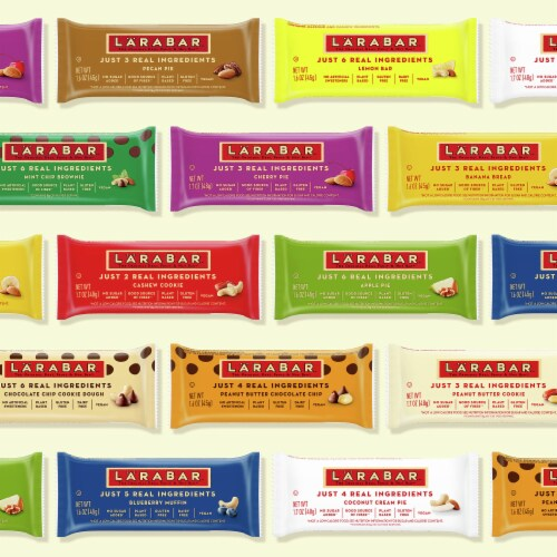 Larabar Mint Chip Brownie Fruit & Nut Bars Perspective: top
