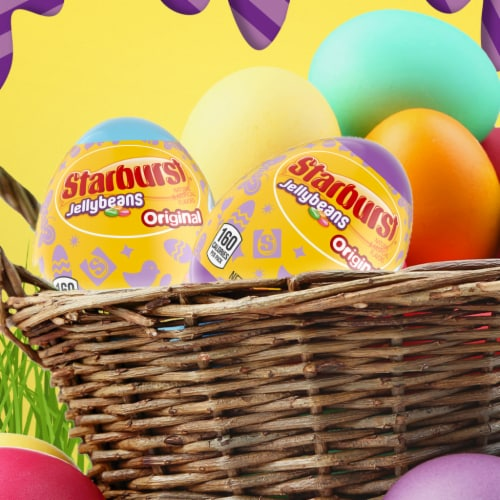 STARBURST Original Jelly Beans Chewy Easter Candy-Filled Easter Egg Perspective: top