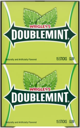 Wrigley's Doublemint Gum (10 Pack) Perspective: top