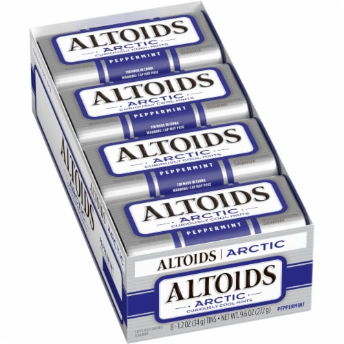 Altoids Arctic Curiously Cool Peppermint Mints (8 Pack) Perspective: top