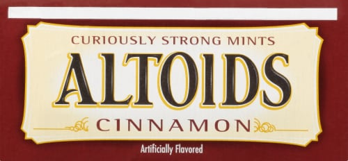 Altoids Cinnamon Breath Mints Perspective: top