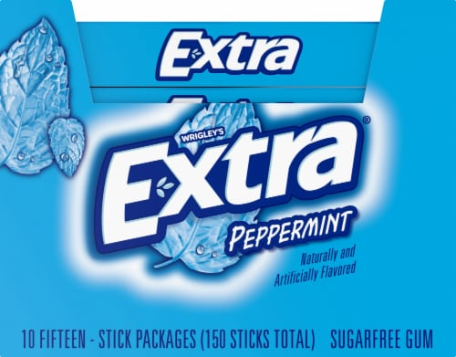 Wrigley's Extra® Peppermint Sugarfree Gum Perspective: top