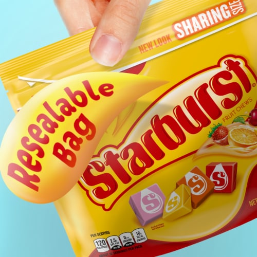 Starburst Original Chewy Candy Sharing Size Perspective: top