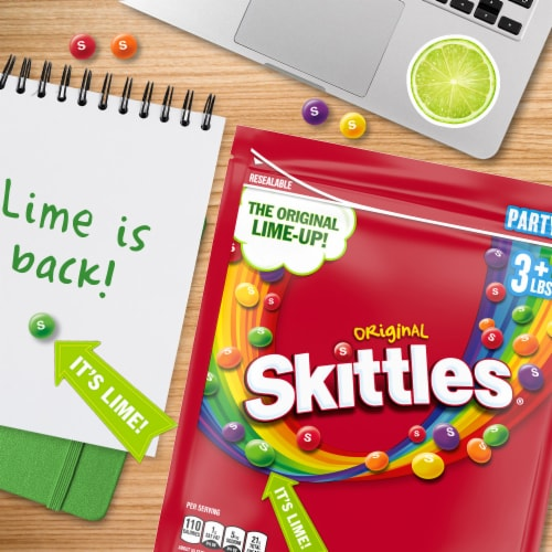 SKITTLES Original Chewy Candy Party Size Perspective: top