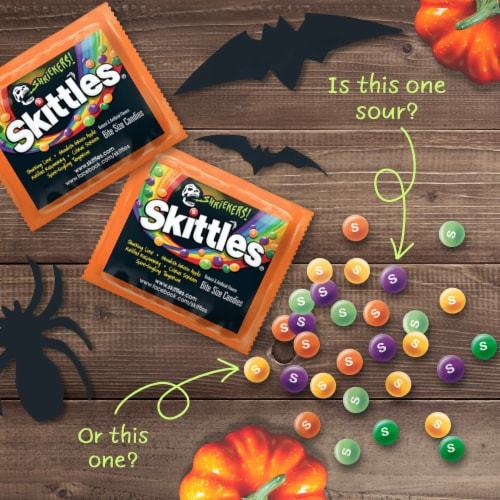 Skittles Shriekers Sour Fun Size Halloween Candy Perspective: top