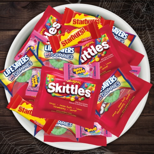 Mars Mixed Sugar Assorted Halloween Candy Perspective: top