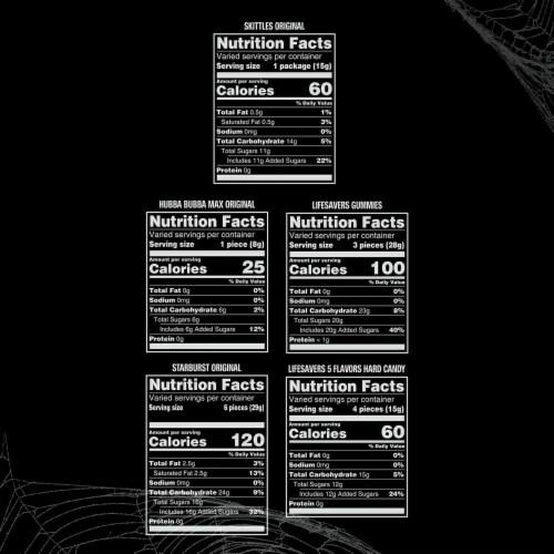 Mixed Sugar Grab Halloween Candy Bag Perspective: top