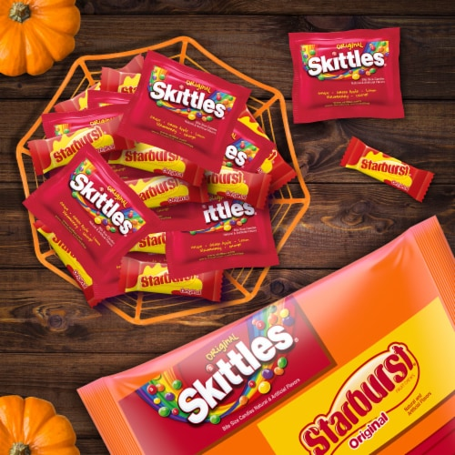 Mars Mixed Sugar Assorted Fun Size Halloween Candy Variety Bag Perspective: top