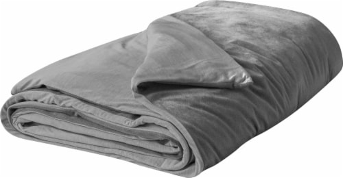 Tranquility Adult Weighted Blanket - Gray Perspective: top