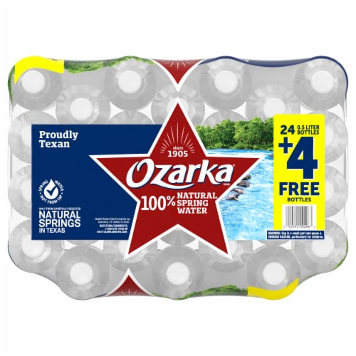 Ozarka 100% Natural Spring Water Perspective: top