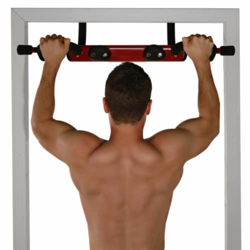 Stamina Products 50-0085 Boulder Fit Door Gym Pull Up Bar & Climbing Hand Holds Perspective: top