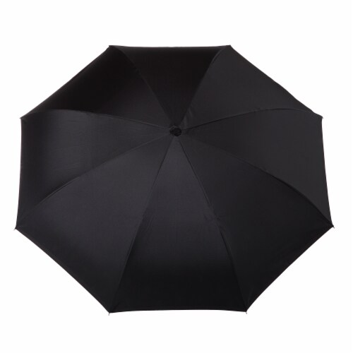 Totes InBrella Reverse Close Umbrella - Black Perspective: top