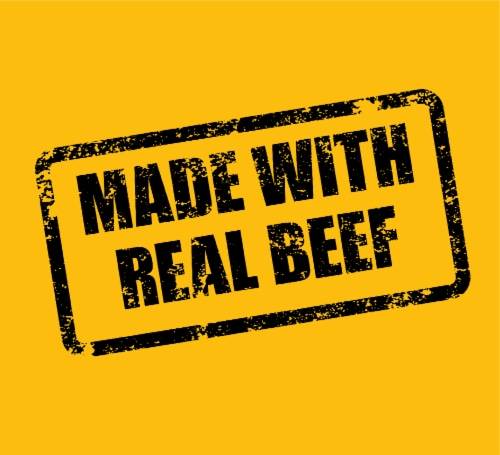 Pedigree Chopped Ground Dinner with Beef Wet Dog Food Perspective: top