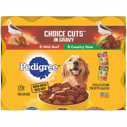 Pedigree® Variety Pack Choice Cuts in Gravy Wet Dog Food Perspective: top