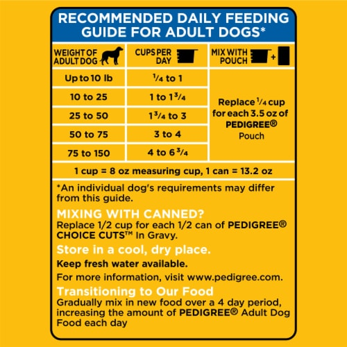 Pedigree® Adult Complete Nutrition Roasted Chicken Rice & Vegetable Flavor Dry Dog Food Perspective: top
