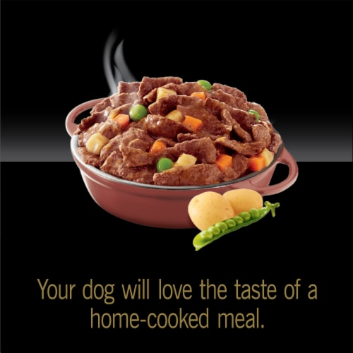 Cesar Home Delights Beef Stew Wet Dog Food Perspective: top