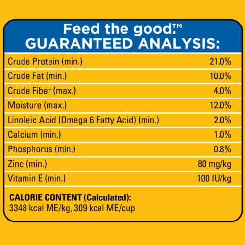 Pedigree® Adult Complete Nutrition Grilled Steak & Vegetable Flavor Dry Dog Food Bonus Size Perspective: top