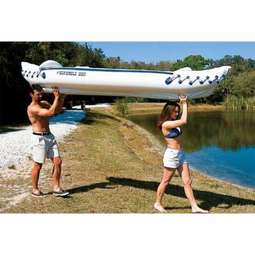 Sea Eagle 330 Pro 2 Person Inflatable Sport Kayak Canoe Boat with Pump and Oars Perspective: top