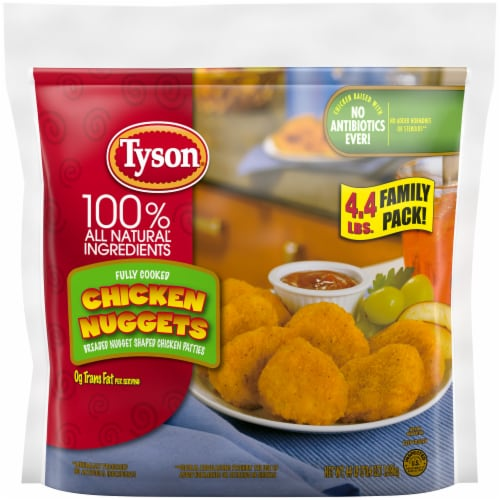 Tyson Fully Cooked Chicken Nuggets Family Pack Perspective: top