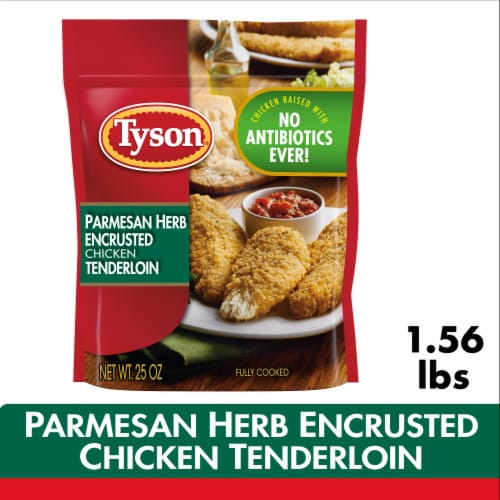 Tyson Parmesan Herb Encrusted Chicken Strips Perspective: top