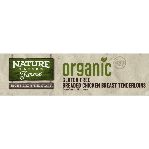 Nature Raised Farms Organic Gluten Free Breaded Chicken Breast Tenderloins Perspective: top