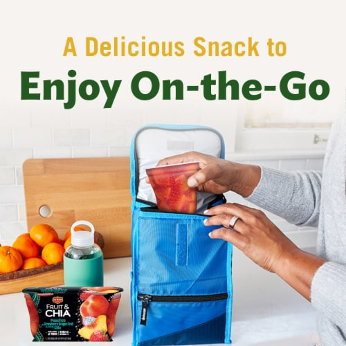 Del Monte Fruit & Chia Peach in Strawberry Dragon Fruit Cups 2 Count Perspective: top