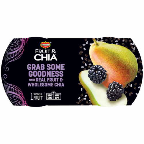 Del Monte Fruit & Chia Pears in Blackberry Fruit Cups Perspective: top