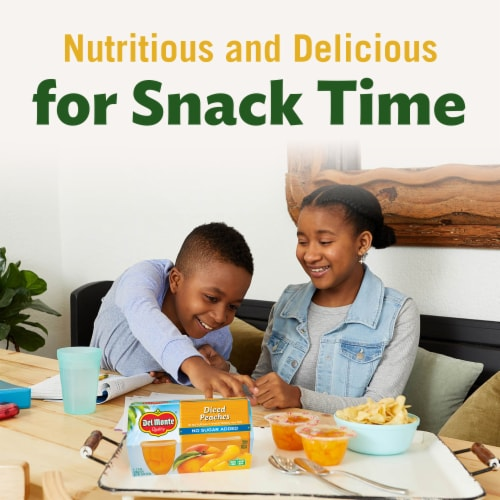 Del Monte No Sugar Added Fruit Cup Snacks Variety Pack Perspective: top