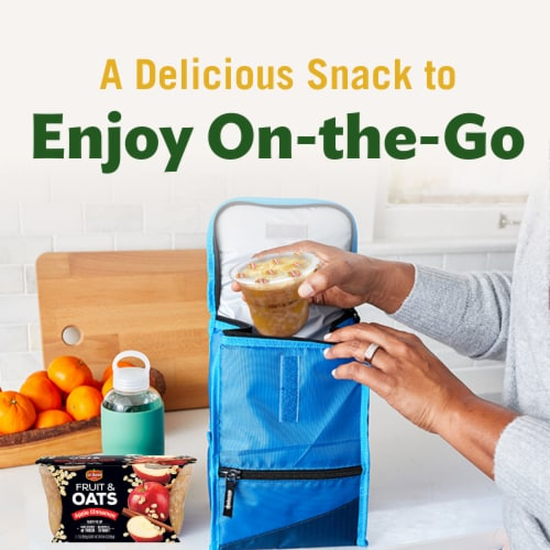 Del Monte Fruit & Oats Apple Cinnamon Cups 2 Count Perspective: top