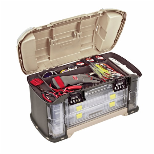 Plano Guide Series Angled StowAway Rack Fishing Tackle Box Storage Container Perspective: top
