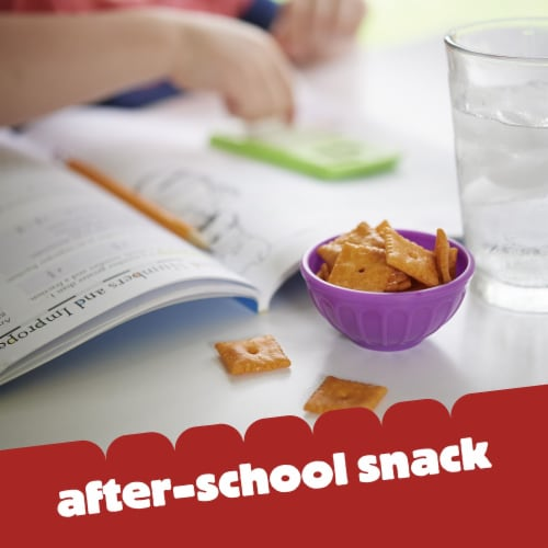 Cheez-It Original Baked Cheese Crackers Perspective: top