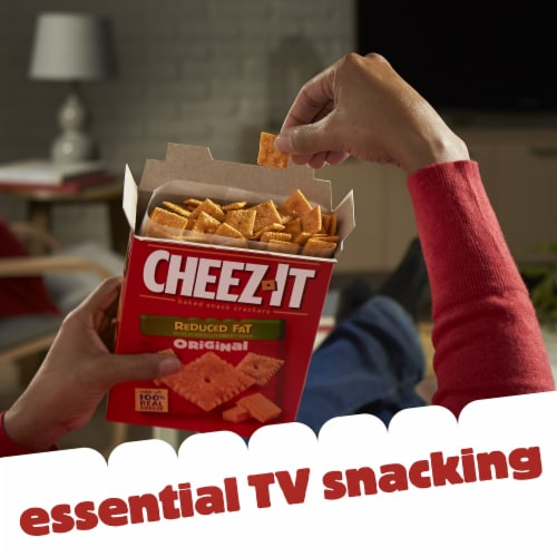 Cheez-It Baked Snack Cheese Crackers Reduced Fat Original Perspective: top