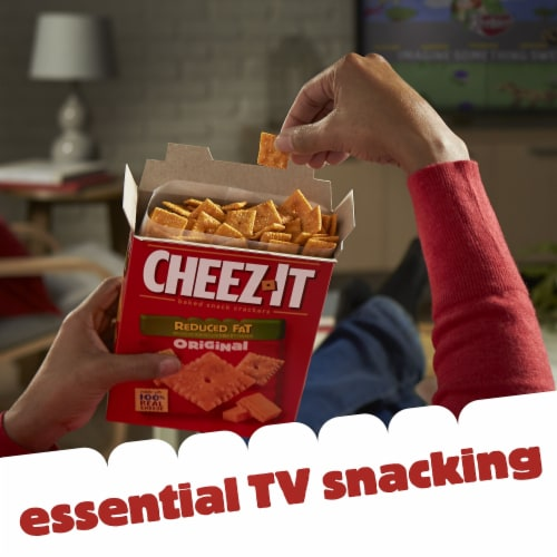 Cheez-It Baked Snack Cheese Crackers Reduced Fat Original Family Size Perspective: top