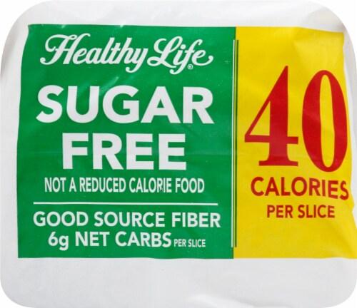 Healthy Life Sugar Free 100% Whole Grain Wheat Bread Perspective: top