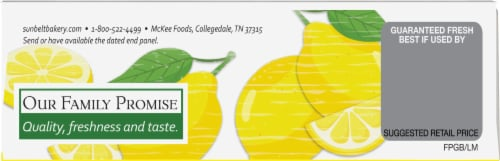 Sunbelt Bakery Natural Lemon Meringue Chewy Granola Bars Perspective: top