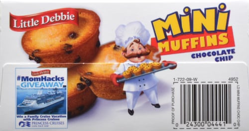 Little Debbie Chocolate Chip Mini Muffins Perspective: top