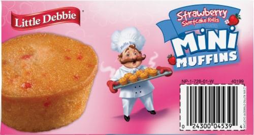 Little Debbie Strawberry Shortcake Mini Muffins Perspective: top
