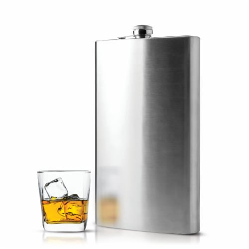 Maxam  64 Ounce Stainless Steel Flask Dishwasher Safe Extra Large Drinking Flask Perspective: top