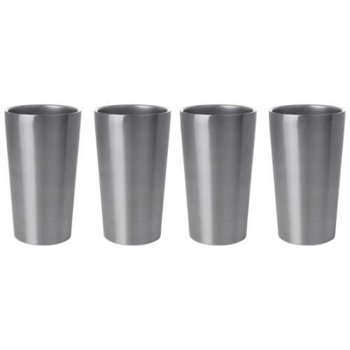 Maxam Stainless-Steel 4-piece Double Wall 13 oz. Tumbler Set Perspective: top