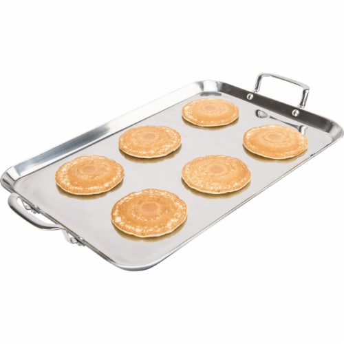 Chef's Secret T304 High-Quality Stainless Steel Double Griddle 18 Inches X 11 Inches Perspective: top