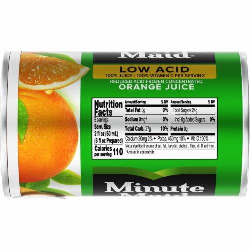 Minute Maid Low Acid Frozen Concentrated Orange Juice Perspective: top
