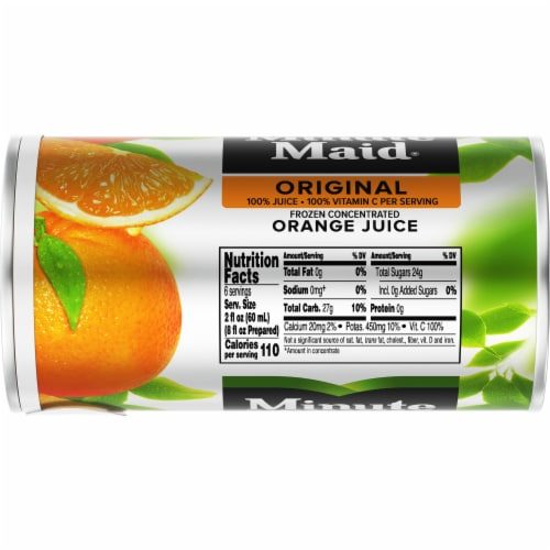 Minute Maid Original Frozen Concentrated Orange Juice Perspective: top