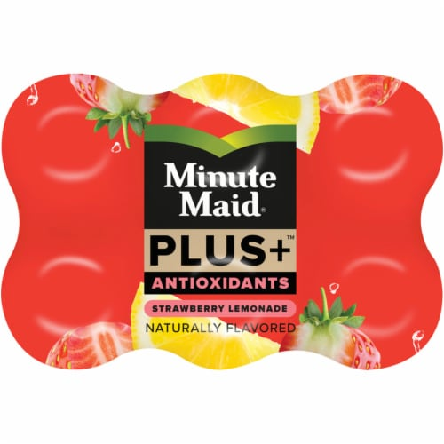 Minute Maid Plus+ Antioxidants Strawberry Lemonade Perspective: top