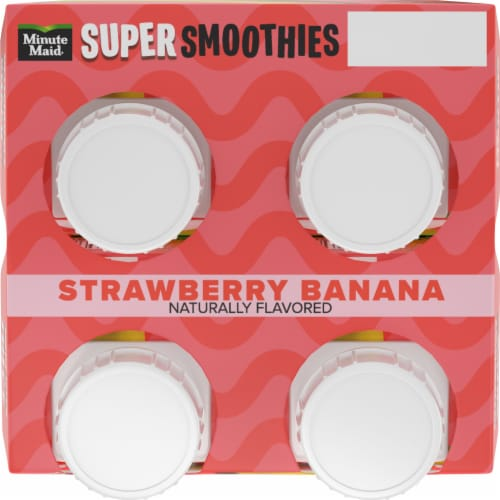 Minute Maid® Super Smoothies Strawberry Banana Smoothies Perspective: top